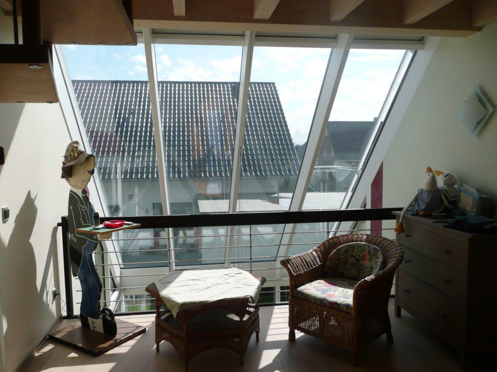 Holzhaus Galerie, Dachverglasung