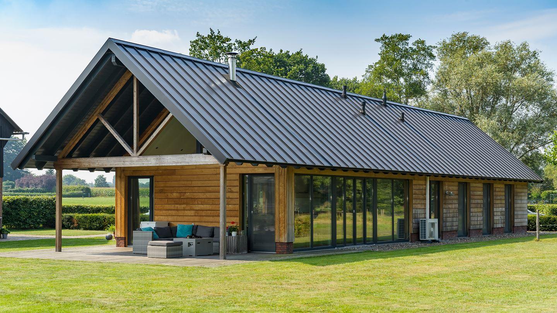 möglichst barrierefrei leben im Holzhaus auf einer Ebene
