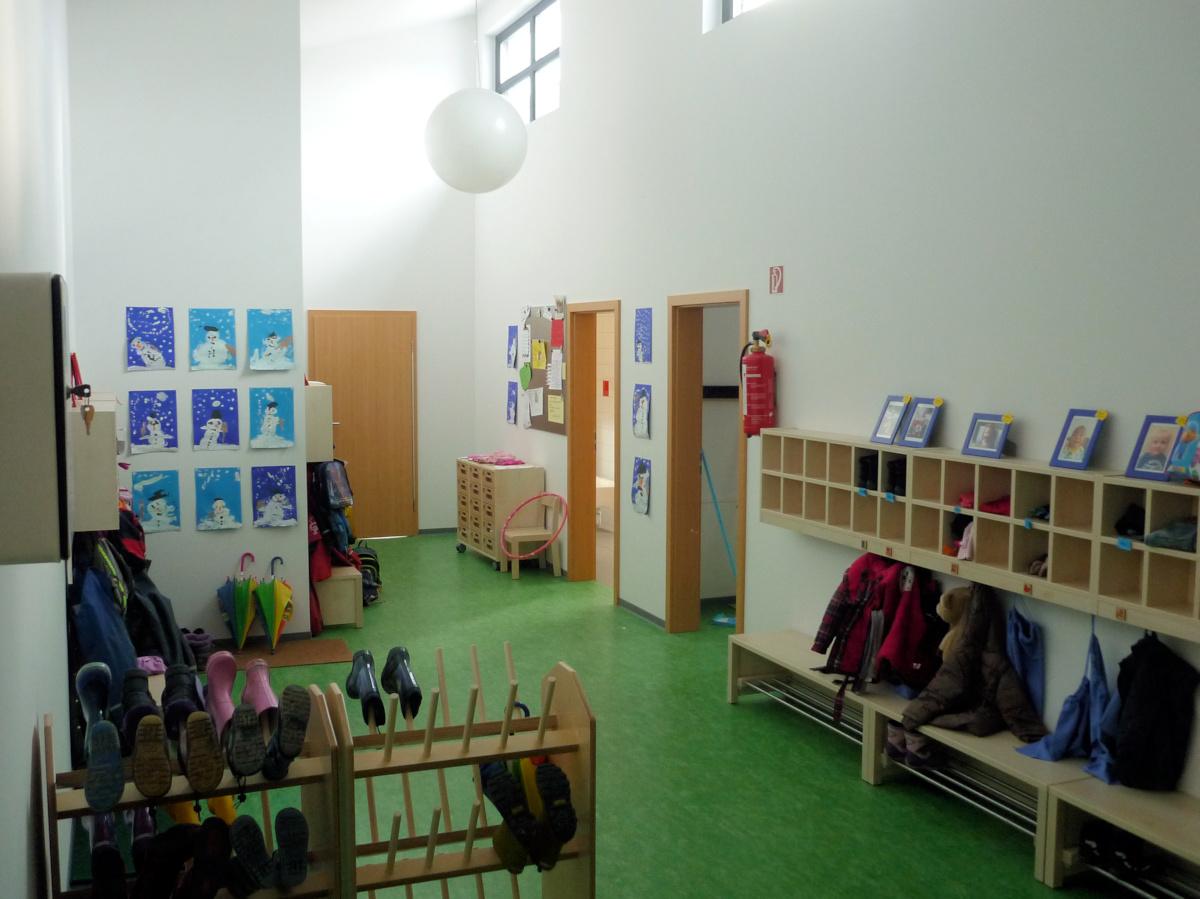 Garderobe KiTa in Holzbauweise eingeschossig