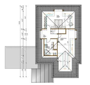 möglichst barrierefreies Holzhaus altersgerecht gebaut, Grundriss OG